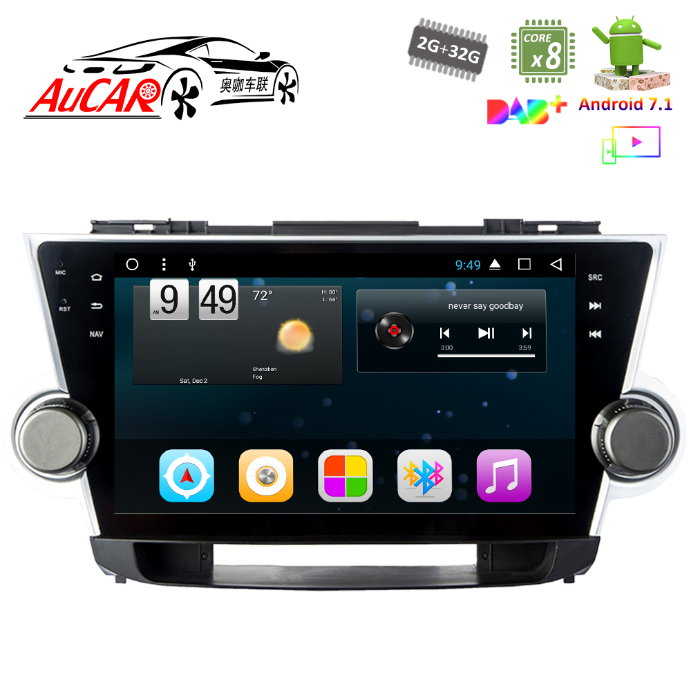 Android 8 1 10 Gps Navigation System For Toyota Highlander 2008 2017 Car Dvd Player Aux Bluetooth Radio Wifi 4g Stereo In Multimedia From