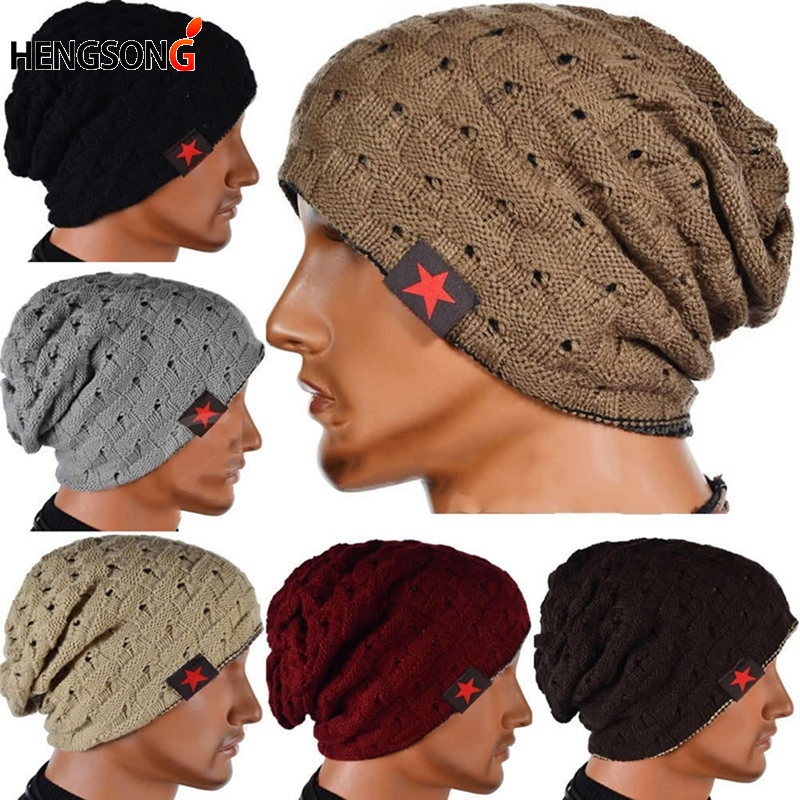 Winter Knitted Sports Hat Unisex Men Sports Caps Two Sides Beanies For Men Women Hip Hop Hats With Stars Running Jogging Caps hat female rabbit fur ball pompon wool knitted women s hip hop warm casual women winter hats beanies cap6a44