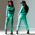 Pink Track Suits Sportswear Women Autumn Long Sleeve Hoodies Sweatshirt With Pants 2 Pieces Printing Sportswear Set Costumes