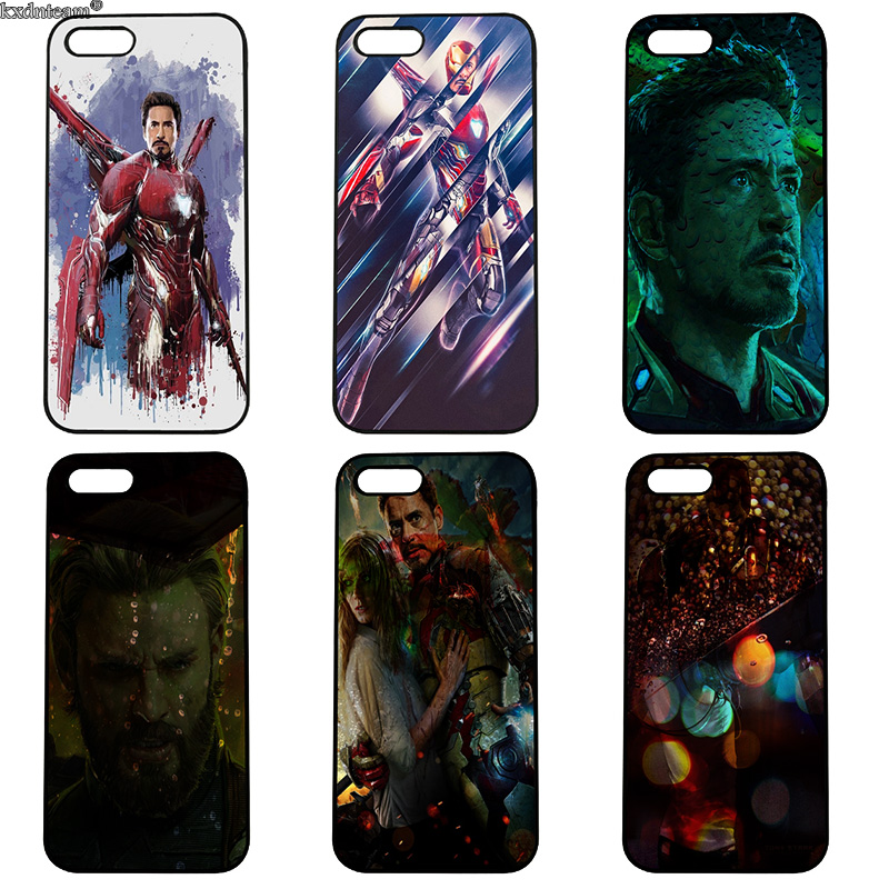 Iron Man Tony Stark Cell Phone Case Hard Plastic Cover Fitted for iphone 8 7 6 6S Plus X 5S 5C 5 SE 4 4S iPod Touch 4 5 6 Shell