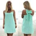 Vestido de verano 2016 verano estilo mujeres vestido ocasional más el tamaño de playa ropa de las mujeres de la gasa