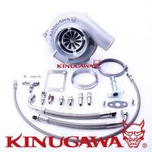 Kinugawa Ball Bearing Turbocharger 4″ Anti Surge GTX3076R 60mm w/ .73 T3 V-Band
