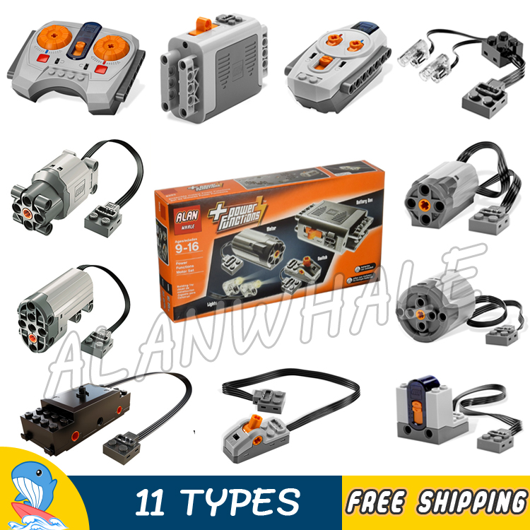11Types Techinic Power Functions Motorized MOC M L XL Servo Motor Battery Box Model Building Blocks Toy Set Compatible With lego