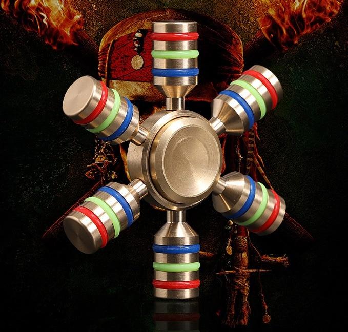 Fidget Spinner Rainbow Finger Spinner Hand Spinner Toy Metal Brass Spiner Antistress Relieve Stress Toys