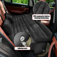 CARPRIE Car Travel Bed Inflatable Travel Car Mattress Air Bed Back Seat Sleep Rest Mat with Pillow/Pump Flocking m22