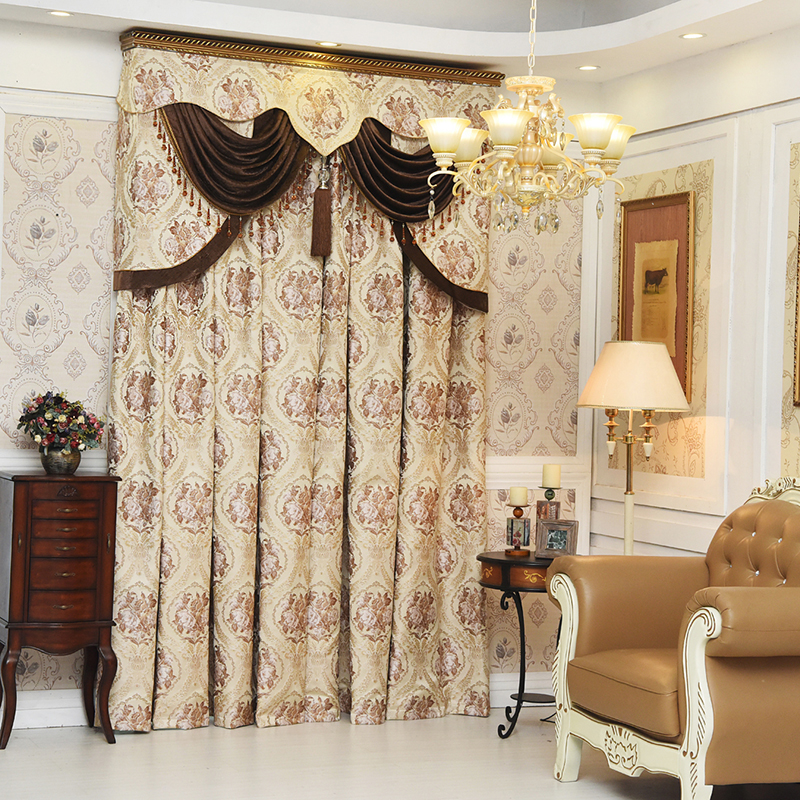 High quality european luxury window blackout curtain for for M s living room curtains