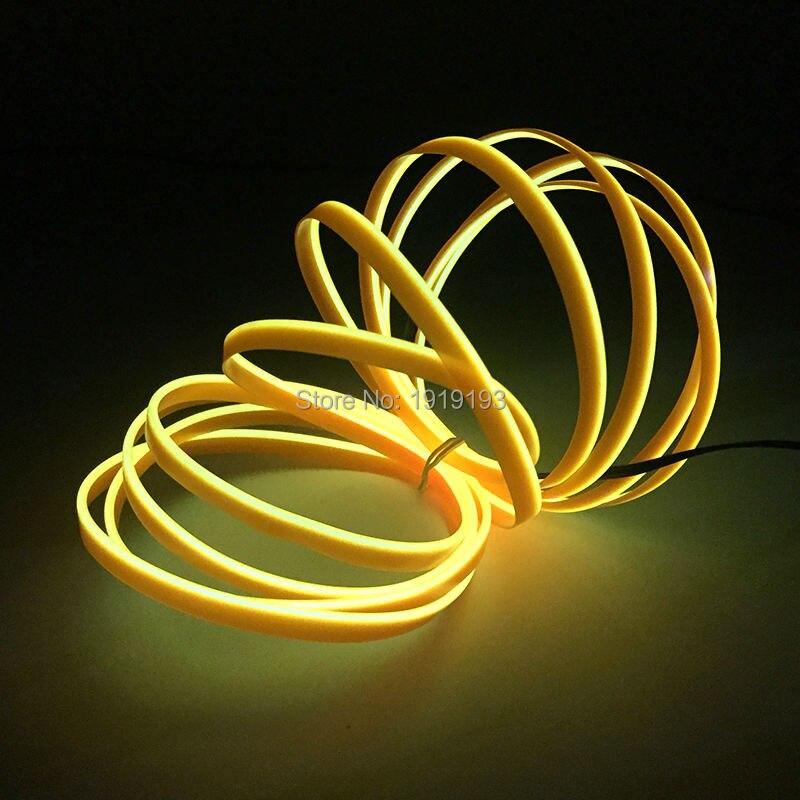 4 метров 2.3mm-юбка EL провода Неоновый свет Светодиодные ленты для автомобилей внутренний, мотоцикл, авто украшения + dc-12v звук активных el драйв... ...