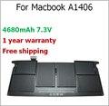 """4680 mAh bateria do portátil para Macbook A1406 para Apple para Macbook Air 11 """" A1370 A1406 020-7376-A BH302LL / A *"""