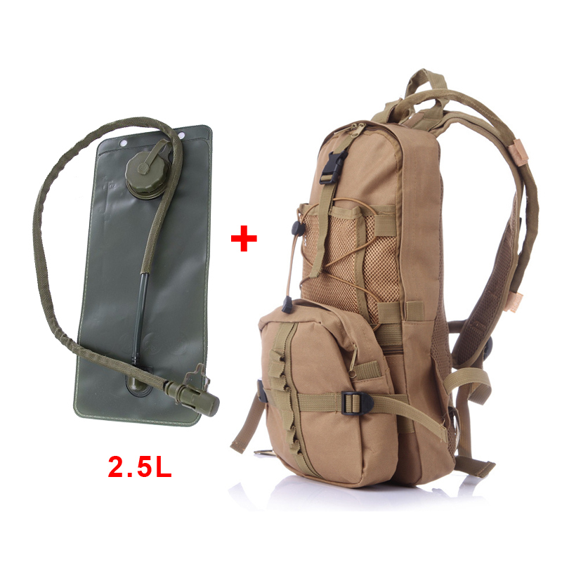 Outdoor Military Travel Camping Hiking Tactical Molle Shoulder Backpack TPU Water Bag Rucksack MTB Bike Bicycle Sports Bag outlife new style professional military tactical multifunction shovel outdoor camping survival folding spade tool equipment