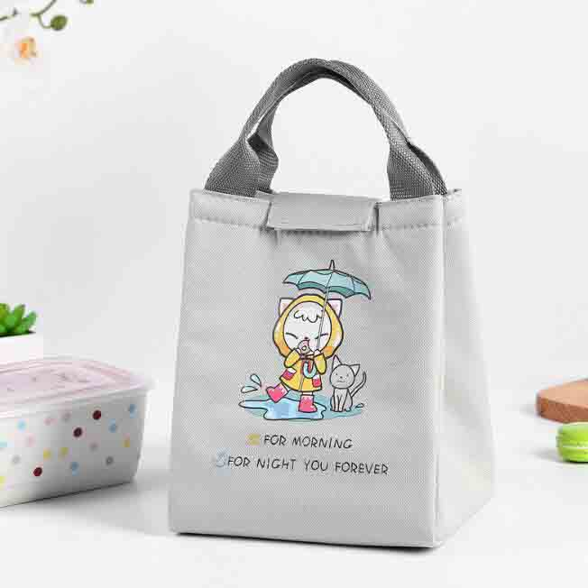 2019 Waterproof Cute Animal Lunch Bag For Women Kids Men Cooler Lunch Box Bag Tote Canvas Lunch Bag Insulation Package Portable