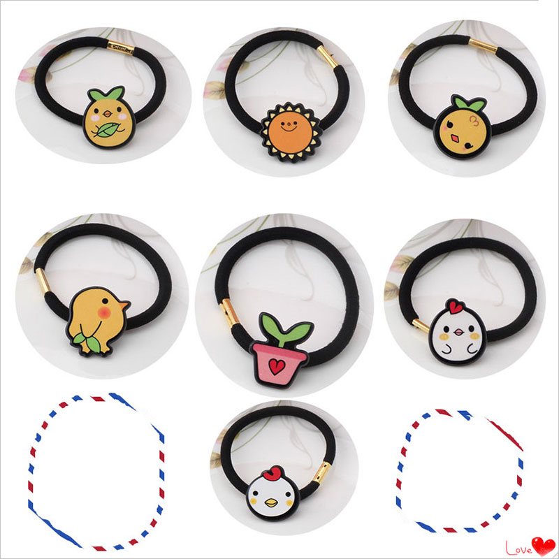 M MISM Sun Bird Chick Hair Elastic Bands for Girls Kids Lovely Cute Hair Accessories Ornaments Rubber Band Scrunchy Gum m mism new fabrics flower hair elastic band for women girls cute hair accessories ornament rubber gum headdress scrunchy