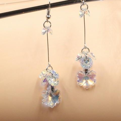 Корейские модные серьги 2018 сережки из сверкающих кристаллов