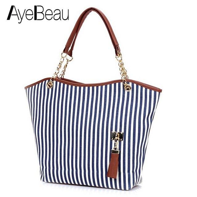 309265d2a Verano Playa Grande de lona de las mujeres grandes bolso para dama hombro  mano bolsa mujer