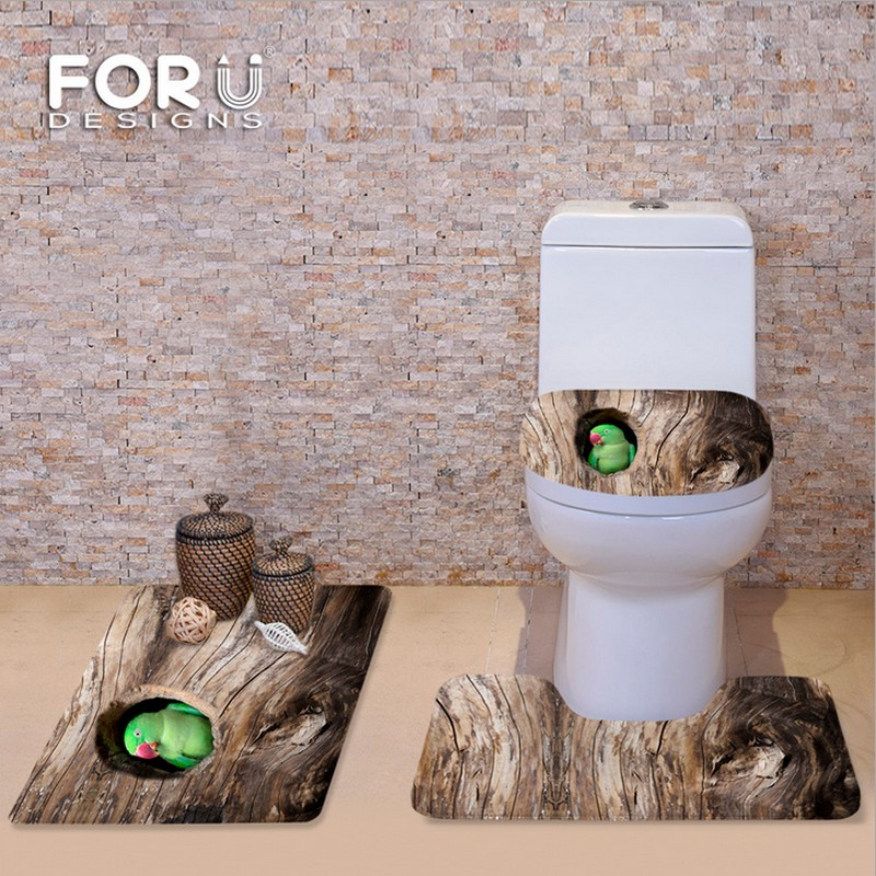 Delightful Brown Soft Flannel 3 Piece Bathroom Set Bath Contour Rug Carpet Toilet  Cover Antique Wood Tree Annual Door Mat Free Shipping In Carpet From Home U0026  Garden On ...
