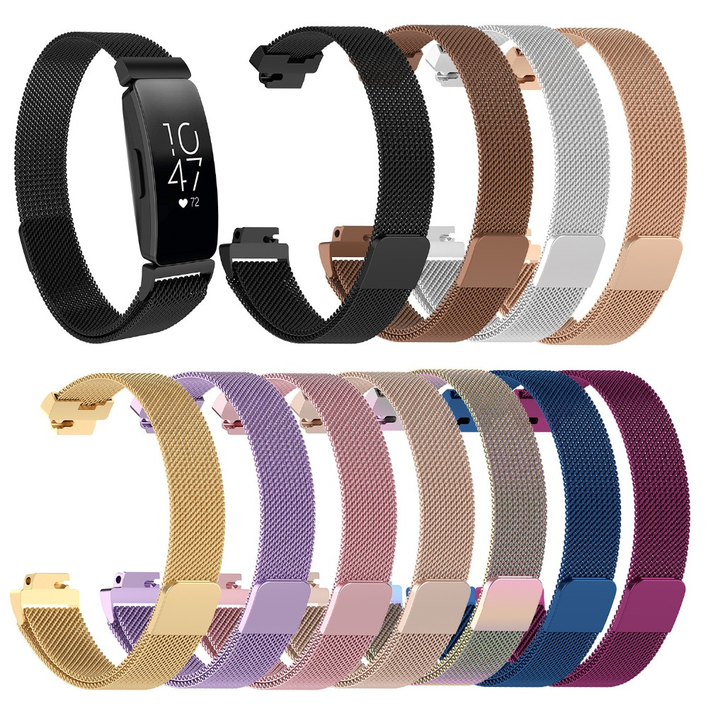 Strap Bracelet Stainless-Steel Fitbit Inspire Replacement Magnetic Hr/ace2-Band for Milanese