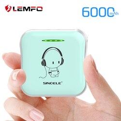 LEMFO DIY Cute Mini Power Bank 18650 Powerbank 6000Mah External Battery 2A Quick Portable Charging For iPhone Xiaomi Huawei