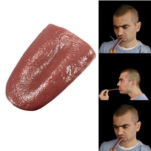 2020 hot horror funny magic tricks whole person false simulation tongue decompression toy Halloween prank(China)