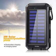 20000 MAh Solar Power Bank Tahan Air Portable Backup Powerbank Mobile Phone Charger Kemasan Baterai Eksternal untuk Xiao Mi iPhone Mi(China)