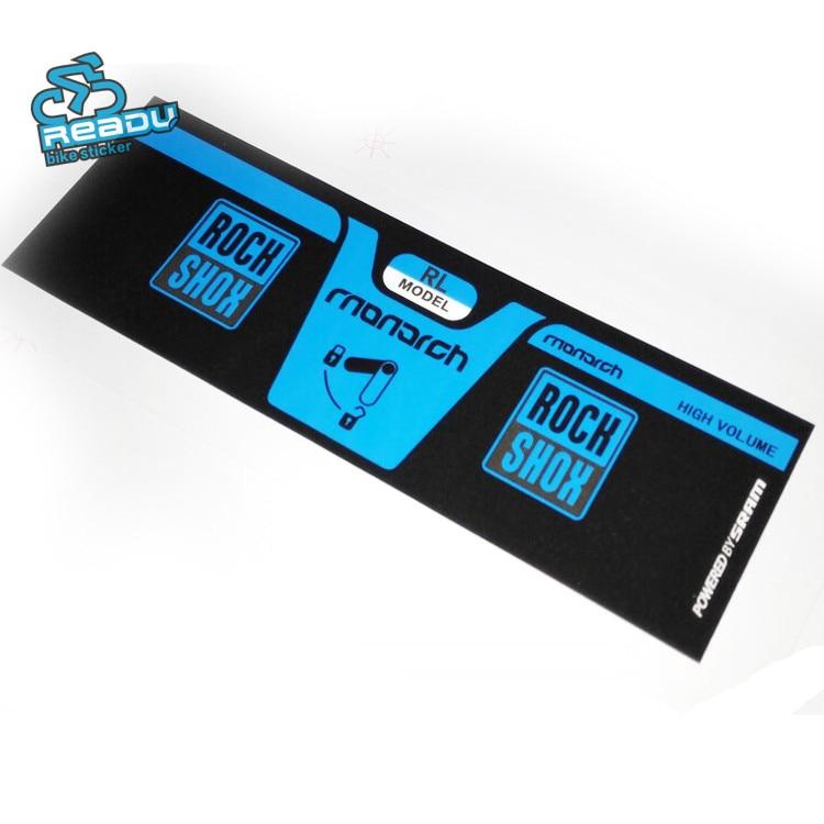 rock shox vivid air Rear Shock Stickers for MTB Mountain Bike bicycle race Decal