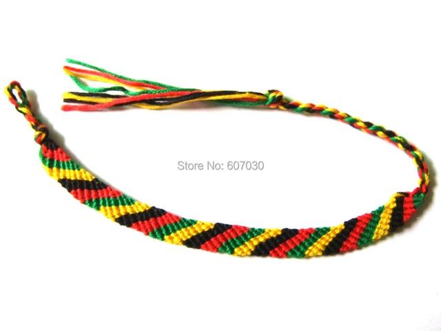 1pcs Rasta Wristband Friendship Bracelet Cotton Reggae Jamaica Surfer Hippie Bob Hobo