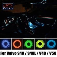 Автомобиль Для Укладки 9 М EL Провода Для Volvo S40/S40L/V40/V50/Интерьер Автомобиля Романтическая Атмосфера Лампы/Гибкий Неон Холодный свет
