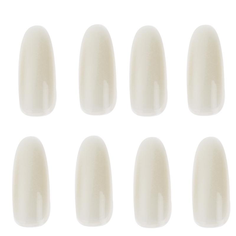 50Pcs/Pack Natural White Ultra-Thin False Nail Tips Round Tip Acrylic French Full Cover Manicure Fake Nails False Nail Tips