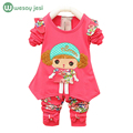Girls clothing sets spring autumn cartoon children's wear casual tracksuits kids clothing set sports for girls christmas outfit