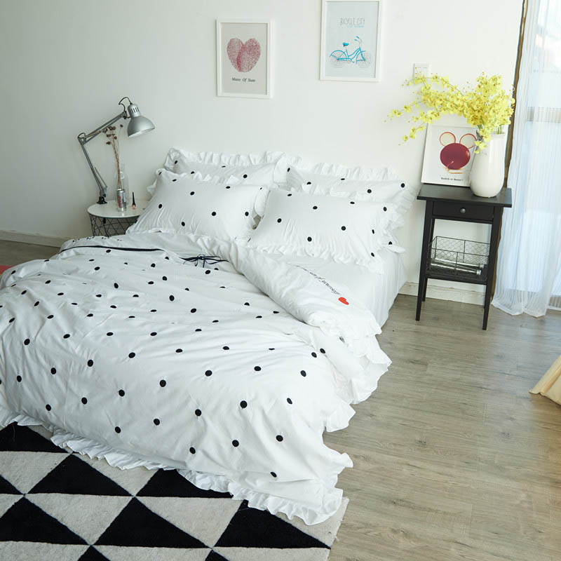 dot sets comforter dots purple and excellent black white sheets polka bedding bed