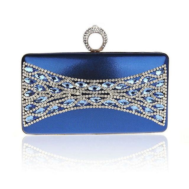 Hot Ladies Pearl Rhinestone Evening Bag Fashion Women Clutch Chain Handbag Crystal Bridal Wedding Party Bag bolsas mujer XA1308C