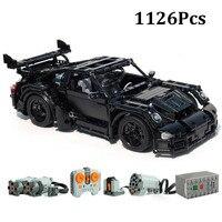 1126Pcs Power Function MOC RC Car Moc 12532 GT3 Mini Version Fit for legoes Motor Building Blocks Bricks kits DIY Toy Gift