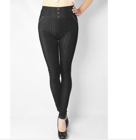 Women Cotton Faux Jeans Legging For Women Fat Leggings Plus Size XL-5XL Large Size Fat Pants         Y024