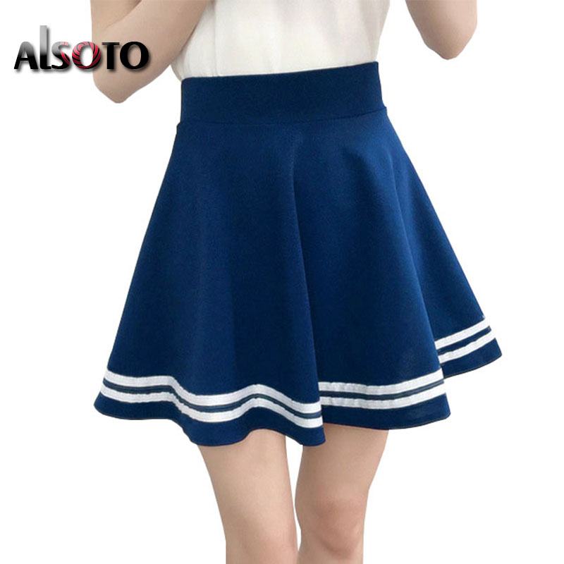 Women skirts Summer style black lady sexy skater vintage mini School skirt faldas mujer Pleate tutu jupe saia feminina Ball Gown