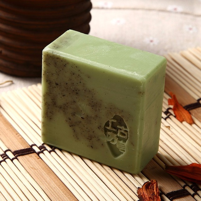 Handmade Wormwood Essential Oil Soap Anti-Allergic Exfoliating Cleansing Face 3