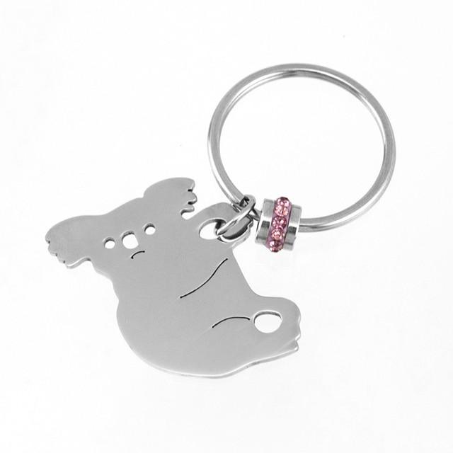 Birthstone Koala Connection Metal Key Ring Metal Pendant Keychains Key Chain Key Fob Accessories S steel (Jan-Dec. each) 12pcs