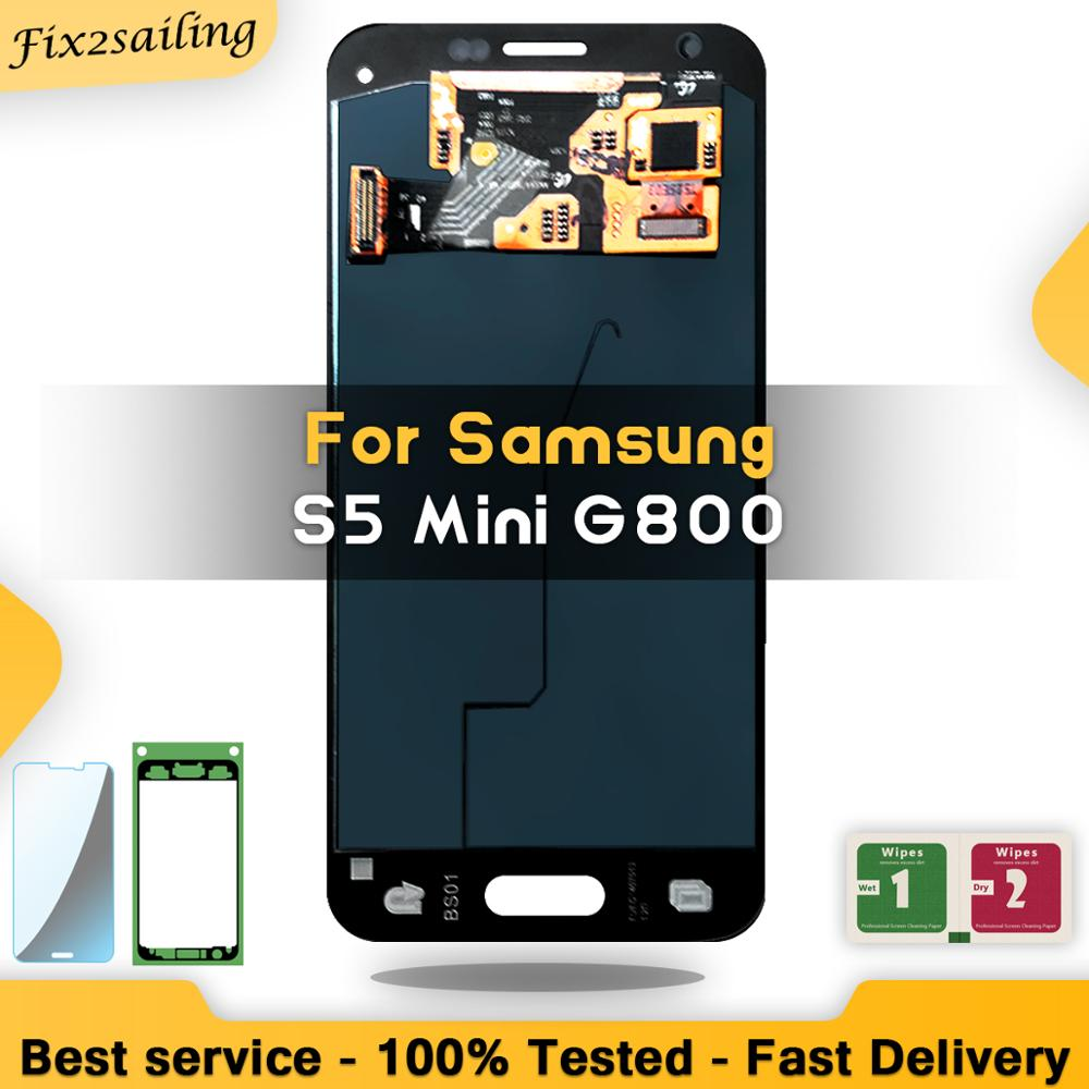 Super Amoled LCD Display For Samsung Galaxy S5 Mini LCD Touch Screen Digitizer Assembly For Samsung G800 G800F G800H ReplacementSuper Amoled LCD Display For Samsung Galaxy S5 Mini LCD Touch Screen Digitizer Assembly For Samsung G800 G800F G800H Replacement