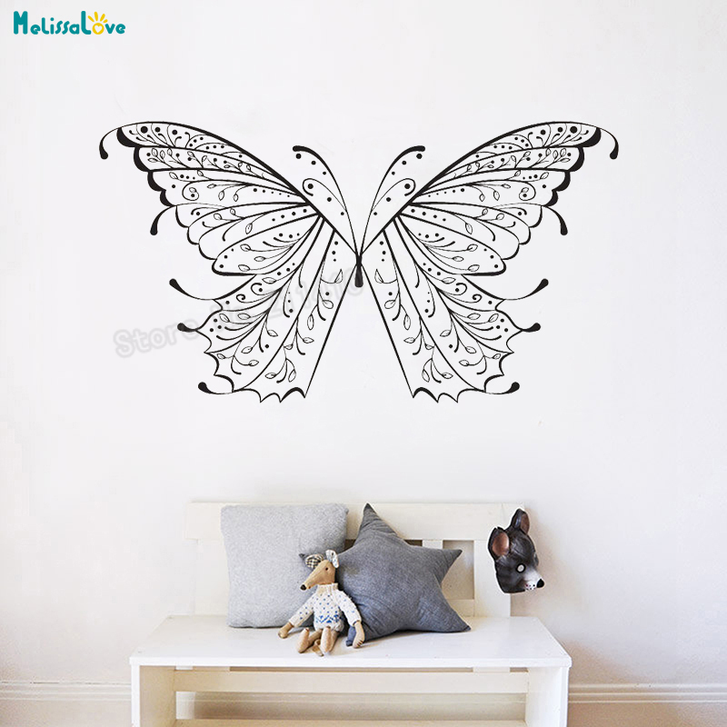 butterfly wings vinyl wall sticker beautiful animal decals home