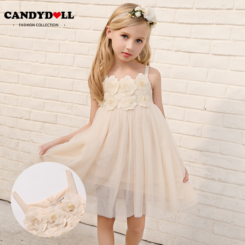 CANDYDOLL New Girls Dresses, Summer, Children's Net, Gauze