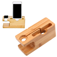 Wooden Phone Charging Stand Charger Dock Station Bracket Holder for Watch Mobile Phone Home Storage Desk Table Decoration