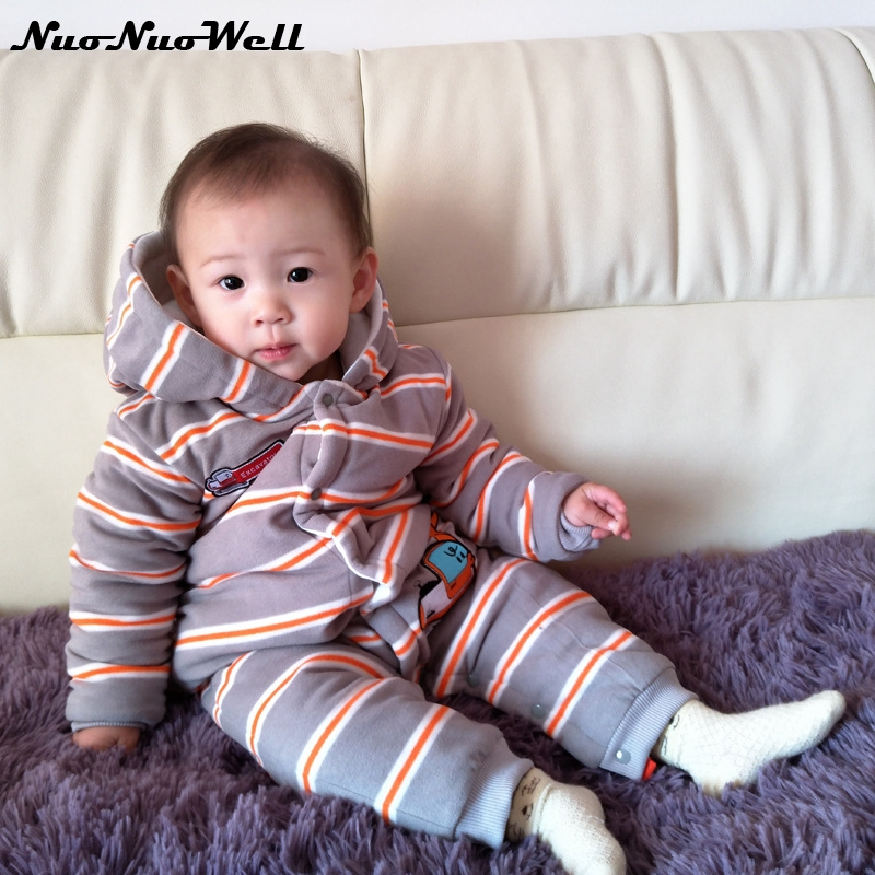 Infant Winter 2018 Spring Thicker Romper Baby Boys Girls Jumpsuit Newborn Baby Clothing Hooded Toddler Baby Clothes Cute Baby infant animal romper baby boys girls jumpsuit newborn clothing hooded toddler baby clothes cute romper baby costume fz044 16