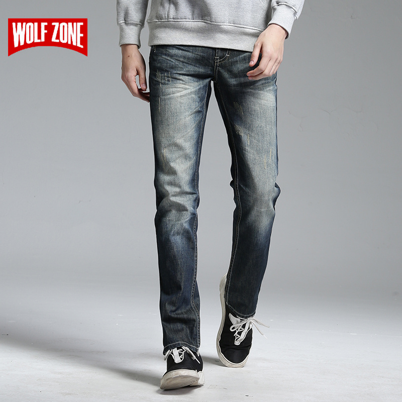 New Spring Fashion Hole Jeans Men Robin Long Trousers Skinny Mens Pants Famous Brand Cotton Mid Solid Full Length Real