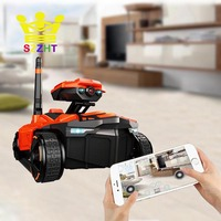 Smart Electric RC Tank Battle Rover Robot Phone App Controlled Wifi FPV HD Camera AR PVP Remote Control Toys for Children Boys