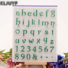 KLJUYP Letters Transparent Clear Silicone Stamp/Seal for DIY scrapbooking/photo album Decorative clear stamp sheets(China)