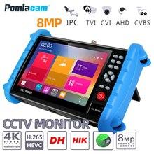 IPC XATC 7 นิ้ว 5 In 1 HD H.265 4K IP กล้องวงจรปิด Tester Monitor 8MP 5MP 1080P AHD CVI TVI Analog CVBS กล้อง RJ45 WIFI ONVIF