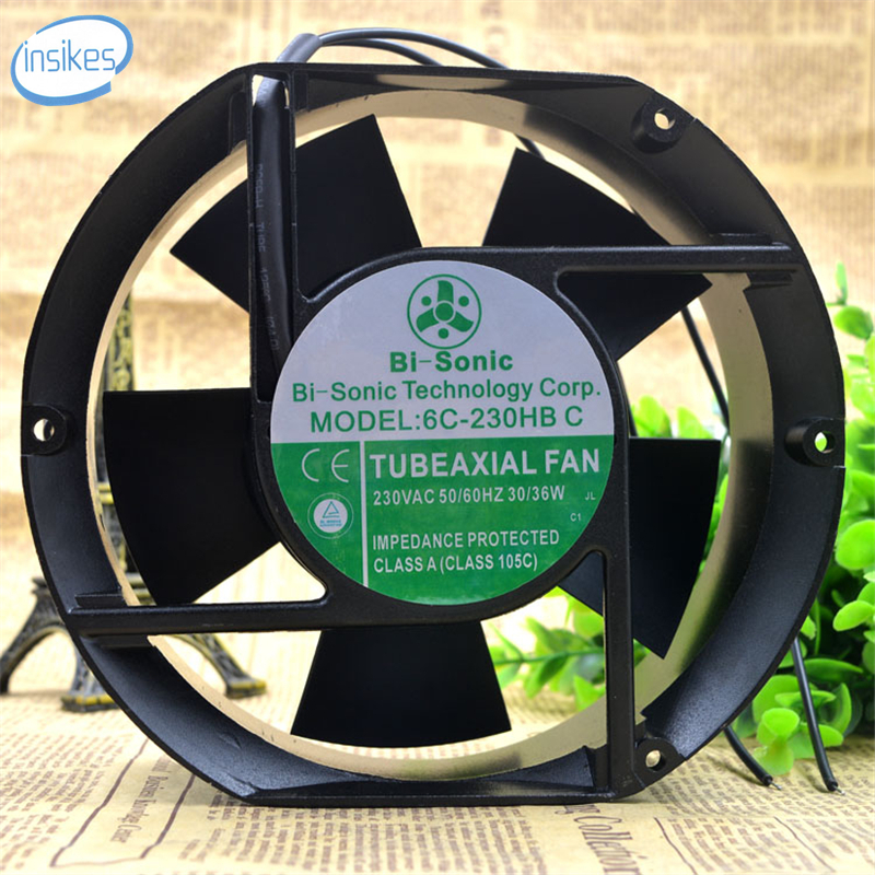 6C-230HB C Axial Cooling Fan AC 230V 0.14A/0.16A 30/36W 3400RPM 17251 17cm 172*150*51mm 2 Wires original s a n j u sj1738ha2 172 150 38mm 220vac 0 31a axial fan
