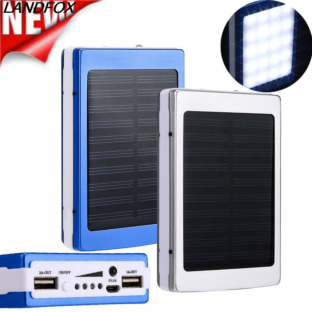 landfox 2018 new big promotion mobile phone chargers 30000mah dual usb portable solar battery. Black Bedroom Furniture Sets. Home Design Ideas
