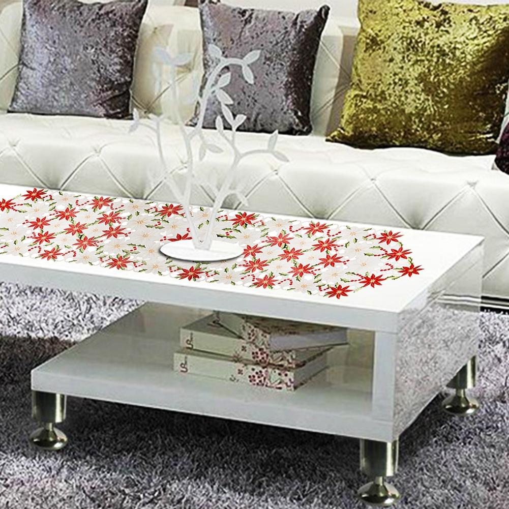 AsyPets High-end Embroidering Table Flag Household Christmas Decoration Restaurant Polyester Table Runner-25