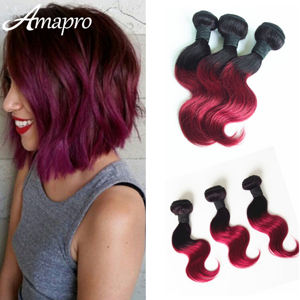 amapro hair products three piece burgundy brazilian hair
