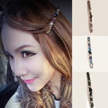 New Korean Style Fashion Hairpins Colorful Shiny Women Girls  Hair Accessories Pearl Crystal Rhinestone Clips