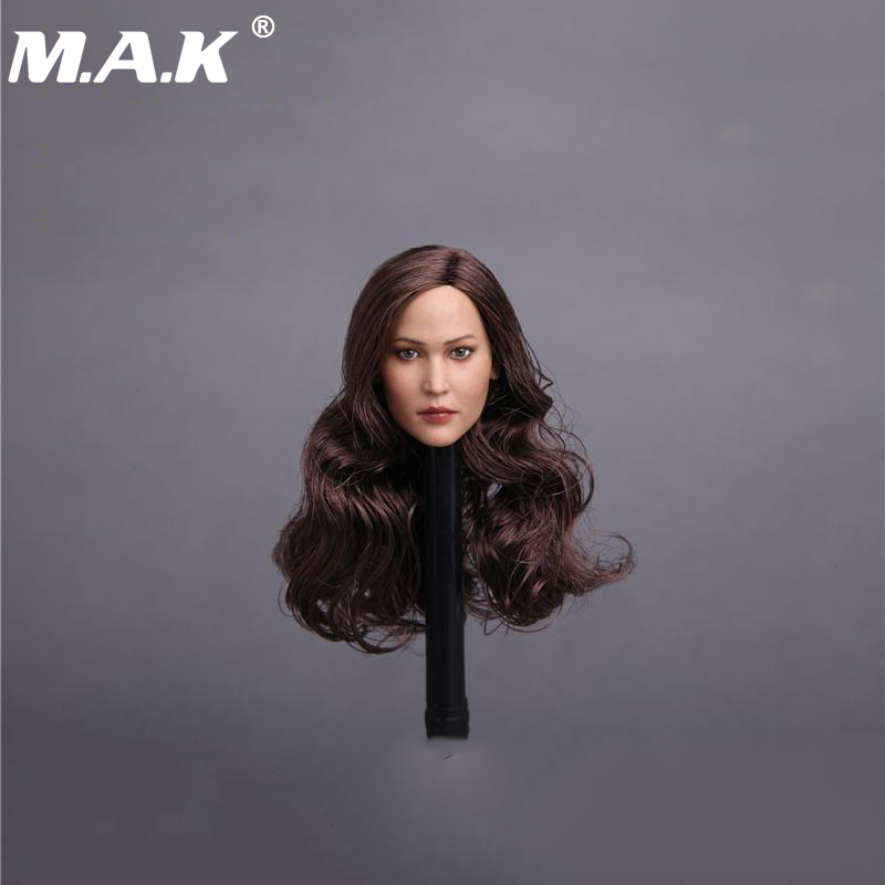 1/6 Hunger Games Katniss Head Sculpt Jennifer Lawrence Head model for 12 inches Action Figures Collections 1 6 scale the game of death bruce lee head sculpt and kungfu clothes for 12 inches figures bodies