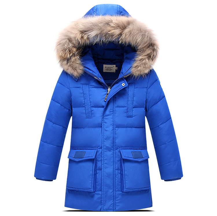 2017 New Authentic Boy's winter down jacket Big virgin thicker Down jacket Boys long sections duck down jacket Kids warm outwear russia winter boys girls down jacket boy girl warm thick duck down